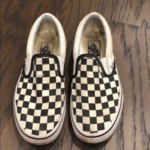 Women's VANS checkered slip-ins. Size 7